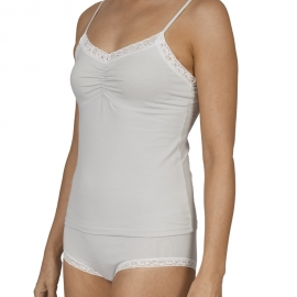 Organic Cotton Camisole V-Neck Top